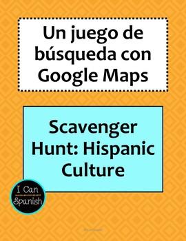 Google Maps Spanish Class Virtual Field Trip / Scavenger Hunt