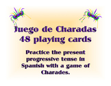 Juego de Charadas Present Progressive Spanish Game