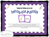 Juego Correlación Instrumentos Musica en Español Spanish Music Game Espanol