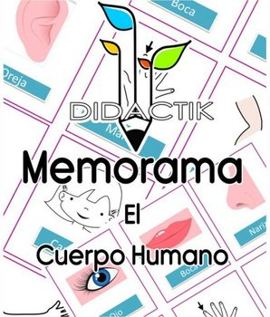 Juego de Memorama El Cuerpo Humano para Niños