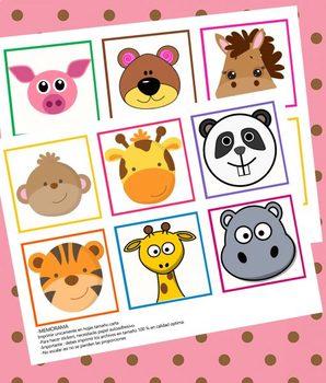 Juego de Memorama de Animales para Niños