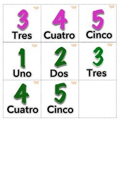 juego de memoria 1 10 aligned with cscope k 1st grade spanish math center. Black Bedroom Furniture Sets. Home Design Ideas
