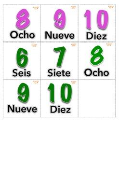 Juego de Memoria 1-10 Aligned with Cscope K-1st Grade Spanish Math Center