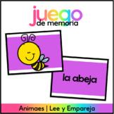 Juego de Memoria: Animales - Spanish Memory Game: Animals