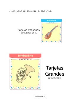 Juego de Memoria Instrumentos Musica en Español Spanish Music Game Espanol