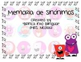 Juego de Memoria Sinonimos + Palabras de San Valentin en Orden Alfabetico