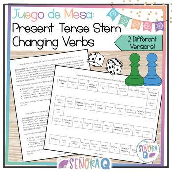 Juego de Mesa: Los Verbos que Cambian en la Raíz (Tiempo Presente)