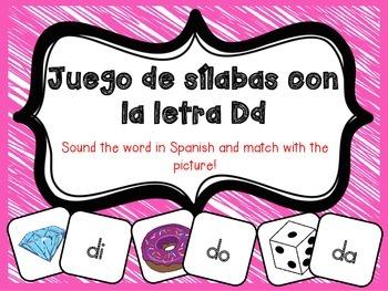 Juego de Sílabas con la letra D