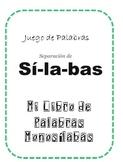 Juego de Sílabas y Palabras. Spanish Games for Kids