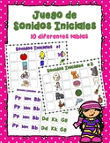 Juego de Sonidos Inciales -Beginning Sound Game in Spanish