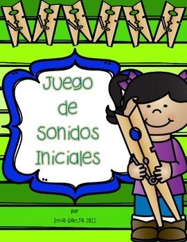 Juego de Sonidos Iniciales - Clip It
