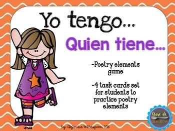 Spanish Poetry Elements- ELEMENTOS DE POESIA