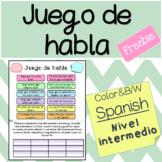Juego de habla - Spanish speaking game!