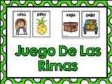 Las Rimas- Rhyming words in Spanish