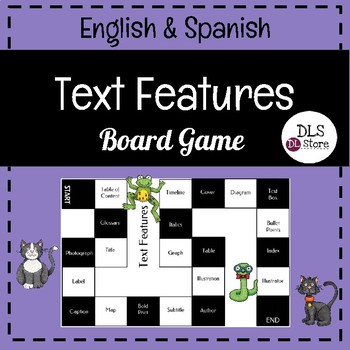 English & Spanish Text Feature Board Game
