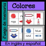 Juego de memoria - colores en ingles y espanol