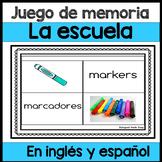 Juego de memoria: la escuela en ingles y espanol