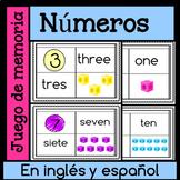 Juego de memoria - numeros en ingles y espanol