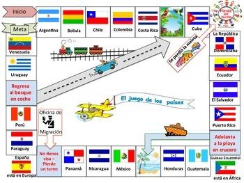 Juego de mesa - Países Hispanohablantes