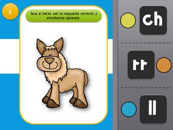 Juego interactivo Digrafos en español