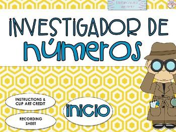 Juego interactivo Id. de Numeros 0-10