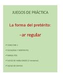 Juegos Bundle for Spanish Grammar: -ar regular preterite c