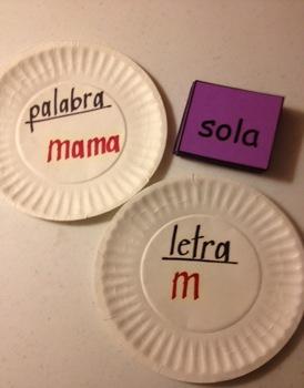 Juegos - Letra, Palabra, Oracion