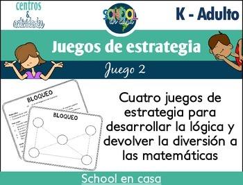 Juegos de estrategia (Math Strategy Games): Set 2 {Spanish}