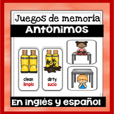 Juegos de memoria: Antonimos en ingles y espanol