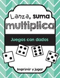Juegos de multiplicación con dados/Dice Games for Multiplication (Spanish)