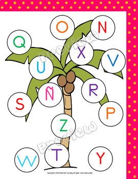 Juegos de reconocimiento de la letra, Recognizing letters in Spanish