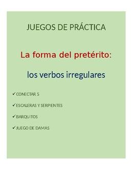 Juegos for Spanish Grammar: irregular preterite conjugation practice