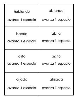 Jugando con los homófonos juego 1- Spanish Homophones Set 1
