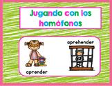 Jugando con los homófonos juego 2- Spanish Homophones Set 2