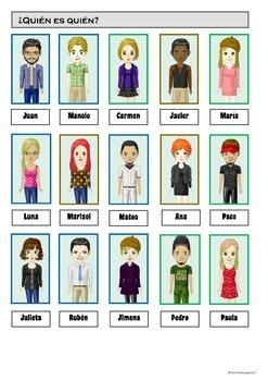 Physical descriptions and clothes - Juego para la clase de ELE