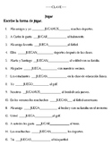 Jugar - to Play Sport and Interview a Friend (2 Worksheets