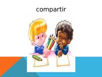 Jugar vocab ppt for PreK or Kinder Spanish classes