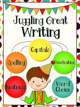 Juggling Great Writing Packet