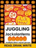 #bestof2017 Juggling Jackolanterns II Read Draw Write Multiplication Packet