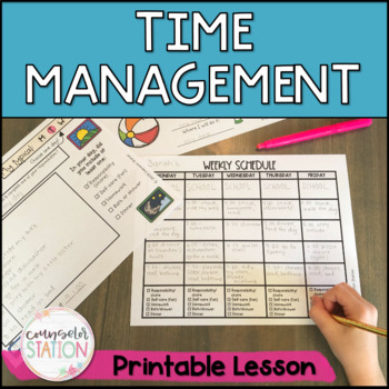 Juggling Responsibilities Time Management Lesson Grades 4-6 - Counselor Station