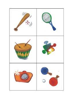 Juguetes (Fichas) Spanish (Toys)