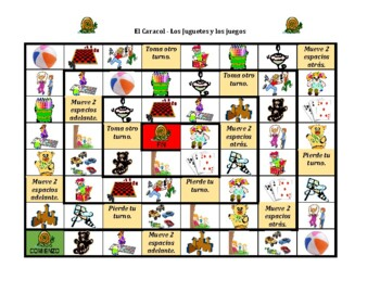 Juguetes y Juegos (Toys in Spanish) Caracol Snail game