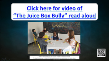 Juice Box Bully Character Ed PBIS Lesson w 2 videos Conflict Resolution