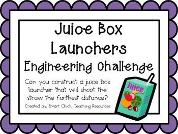 Juice Box Launchers: Engineering Challenge Project ~ Great STEM Activity!