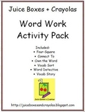 Juice Boxes + Crayolas Word Work Activity Pack