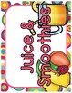 Juice and Smoothie Shop Dramatic Play Set