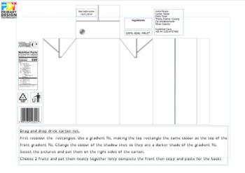 Juice carton net template