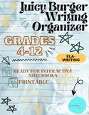 Juicy Burger Writing Poster