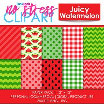 Juicy Watermelon Digital Papers