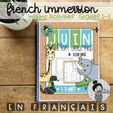 French Immersion Writing Activities Grades 1-3 Animal theme (June)